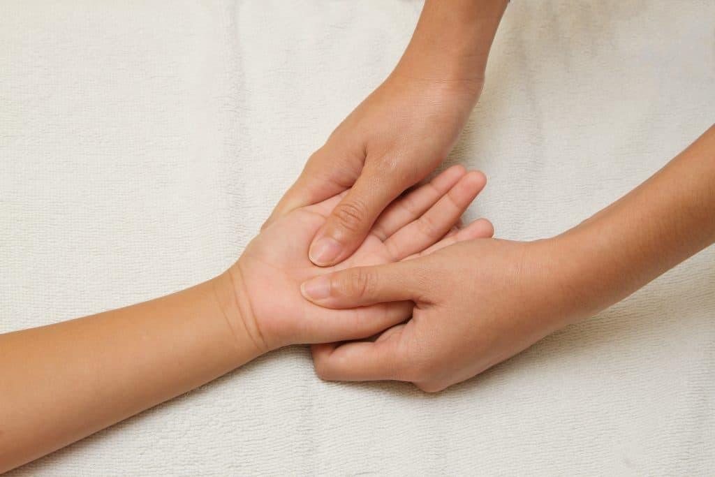 receptory na stopach i dłoniach - ból