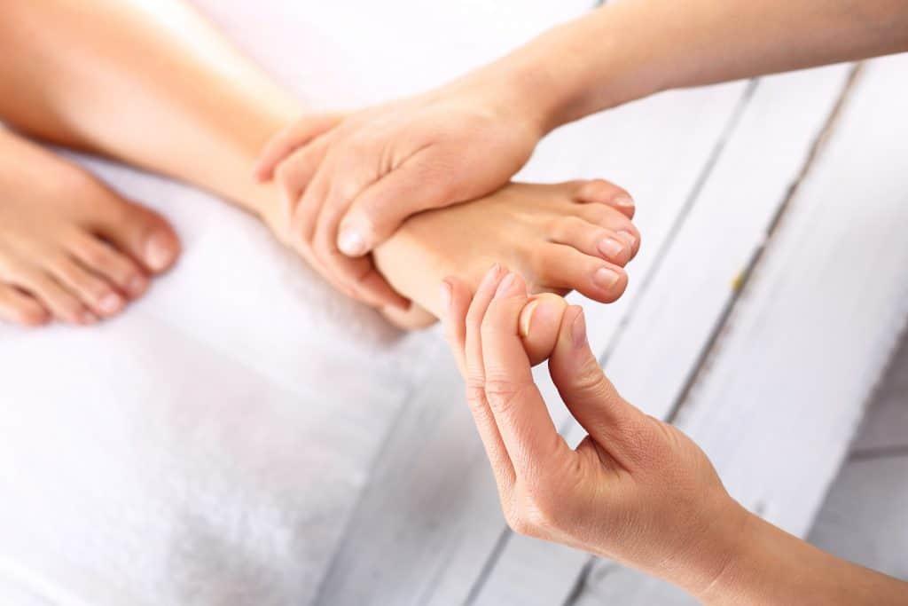 receptory na stopach i dłoniach - ucisk
